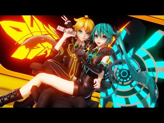 【MMD PV】リモコン Remote Control (sat 1080 mix) - Hatsune Miku ・Kagamine Len (English Romaji Sub)
