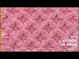 Punto estrellas en relieve tejido a crochet - Tejiendo Peru