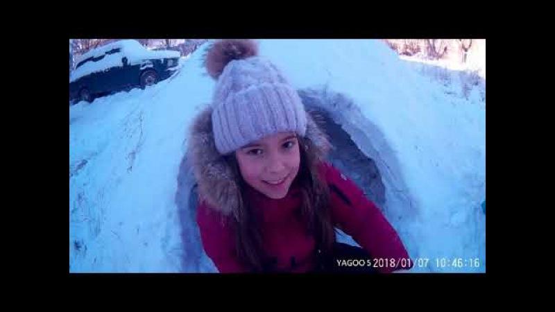 иглу из снега во дворе igloos made of snow in the yard