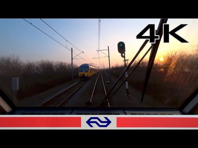 CABVIEW HOLLAND Almere Oostvaarders Schiphol - Hoofddorp Opstel SLT 2018 sunset