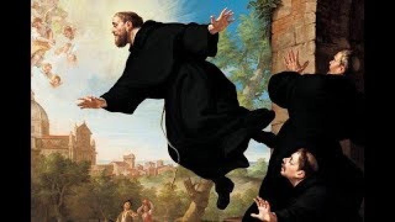 Все это видели но не верили своим глазам. Во время мессы монах летал по церкви. тайна левитации.