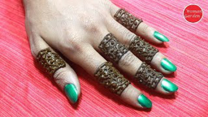 Easy Simple finger mehndi design | step by step Mehndi for fingers | Women Garden