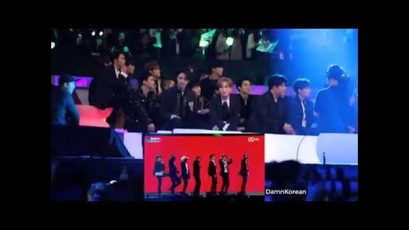 EXO SUPER JUNIOR Reaction to BTS MIC DROP @MAMA 2017 HONGKONG