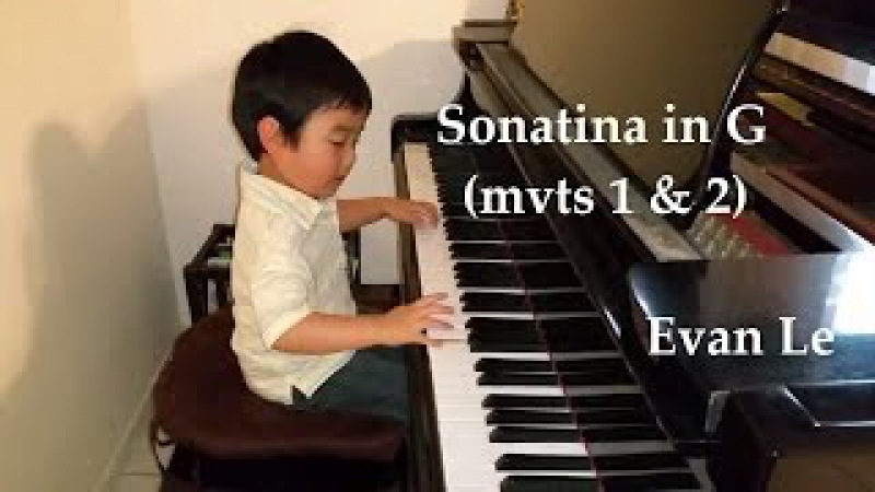 Sonatina in G Major...in One Week! (4-Year-Old Evan Le)