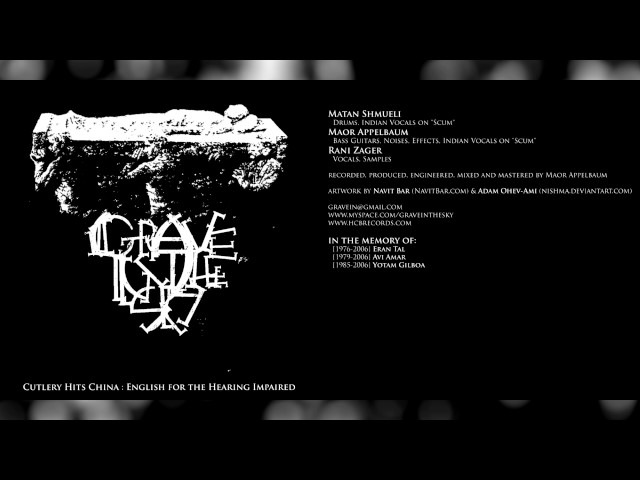 GRAVE IN THE SKY Cutlery Hits China: English for the Hearing Impaired [Full Album]