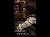 Chris Colfer, Amber Riley and Matthew Morrison via Renee Morrison's Instagram Stories (March 7, 2018)