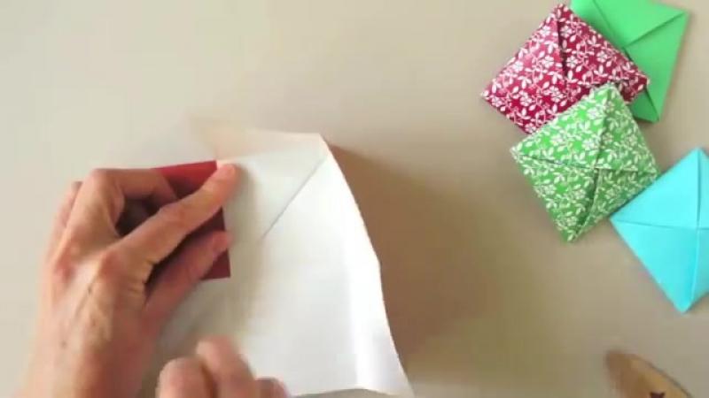 Оригами. Origami. Конверт с сюрпризом оригами 折り紙, 종이 접기