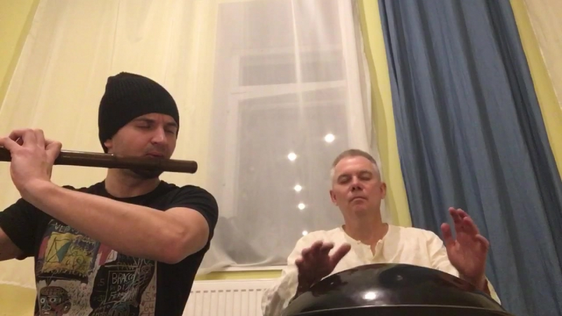 Спонтанный джем в Osho центре ,Евгений Илинскас и Игорь Лузин