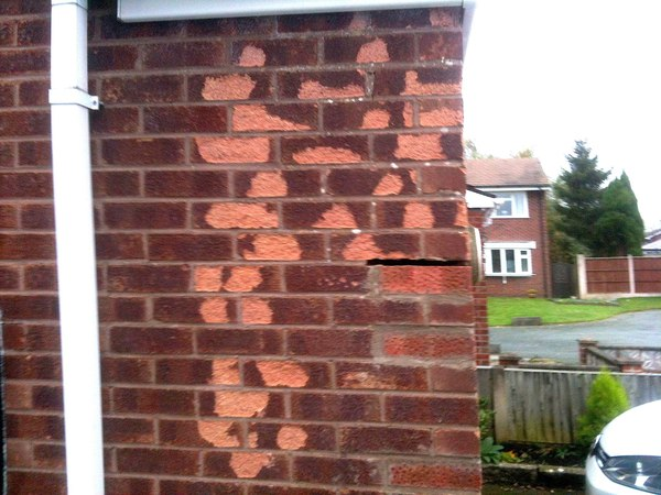 How to replace frost damaged bricks