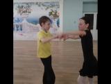 Когда все написано на лице...😂Знакомьтесь, наша новая пара: Денис и Саша на своей первой совместной тренировке :)#начинающие #