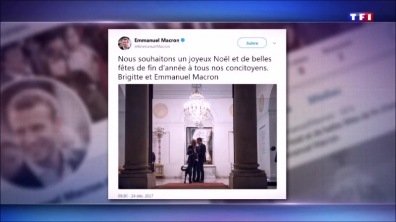 EMMANUEL MACRON SOUHAITE UN JOYEUX NOEL
