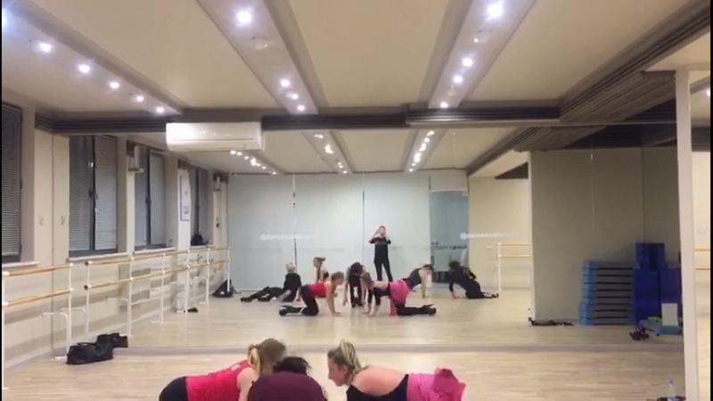 Стрип пластика репетиция танцы Лариса Минина
