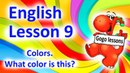 English Lesson 9 Colors Learn rainbow colors Rhymes and songs with Gogo English course