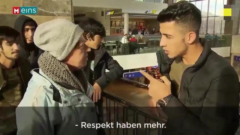 Junger Afghane - Frau bist du musst Respekt haben