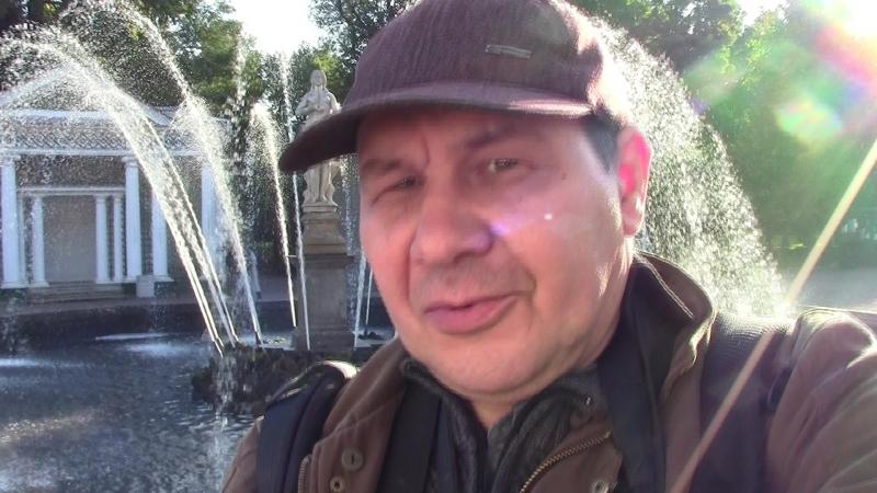 Петергоф,Нижний парк.Видеоселфи у фонтана Ева,дубль 2 )