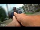 Полицейский застрелил преступника. Видео с нескольких ракурсов. Нательная камера, GoPro, США.