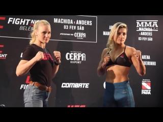 UFC Belem Valentina Shevchenko vs. Priscila Cachoeira Media Day Staredown