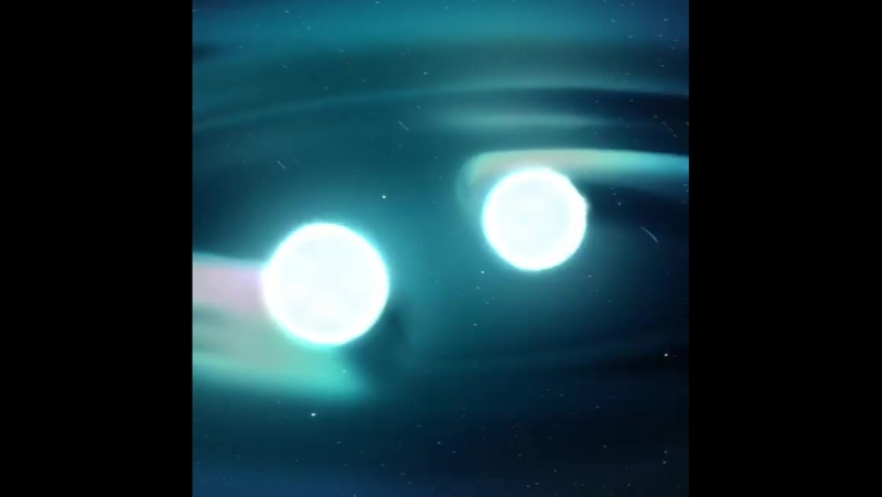 This animation begins with the final moments of two neutron stars
