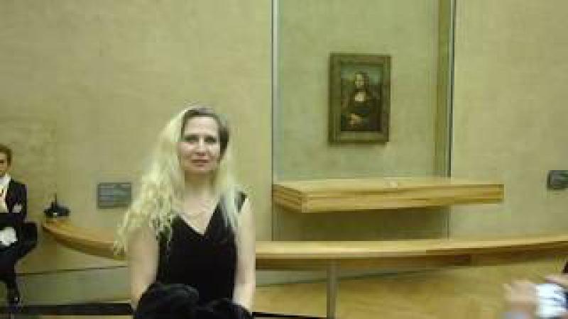 В Париже в Лувре с Джокондой Елизавета Романова жена Президента РФ В В Путина