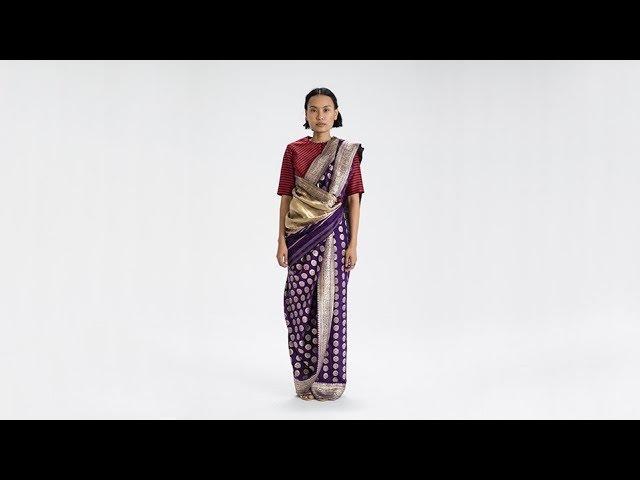 How To Drape a Sari No. 72 Pinn Kossavam Drape - Tamil Nadu, India