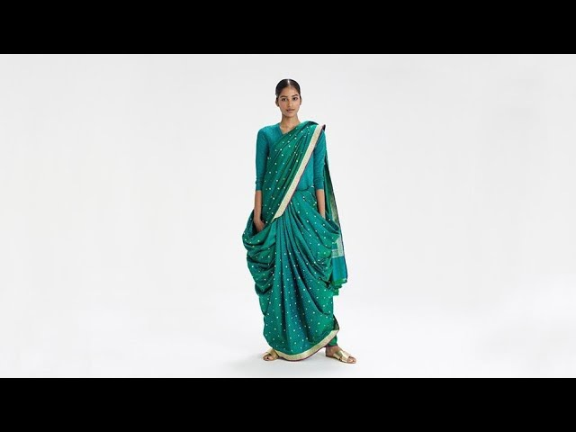 How To Drape a Sari: No. 2 Boggili Posi Kattukodam Drape - Andhra Pradesh, India