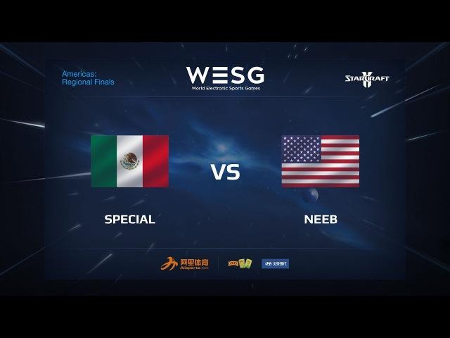 SpeCial (T) vs Neeb (P) - WESG 2017 SC2 AM Finals, Grandfinal