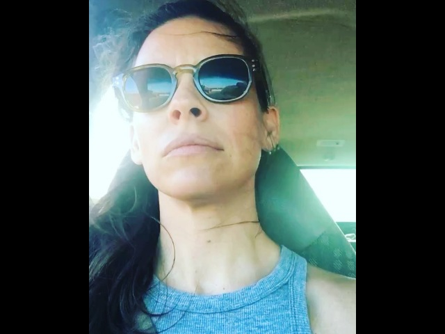 """Evangeline Lilly on Instagram: """"On my way to the airport, again. zoned ilovedriving 🚘"""""""