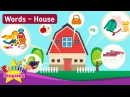 Kids vocabulary Theme House - Fruits Vegetables, Clothes - English Words Theme collection