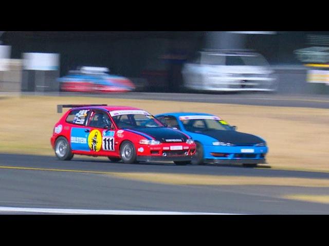 Honda Civic Jordan Cox Under 2 Litre Final Race Weekend VS Jason Hendy Nissan 200sx