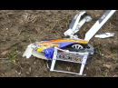 HARD CRASH RC MODEL HELICOPTER ALIGN T-REX 700 DFC!!REMOTE CONTROL HELICOPTER