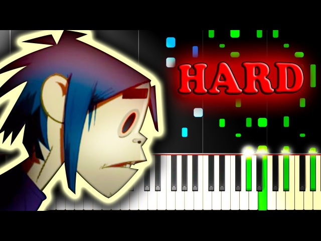 GORILLAZ - FEEL GOOD INC. - Piano Tutorial