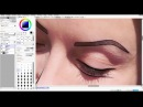 Рисуем девушку по фото/ Draw a girl on the photo Paint Tool Sai 2 (Part 1 Contour and coloring)