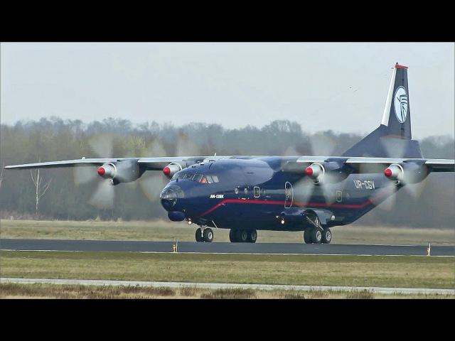 Nice Blue Antonov AN12, UR-CVG, departure Eindhoven