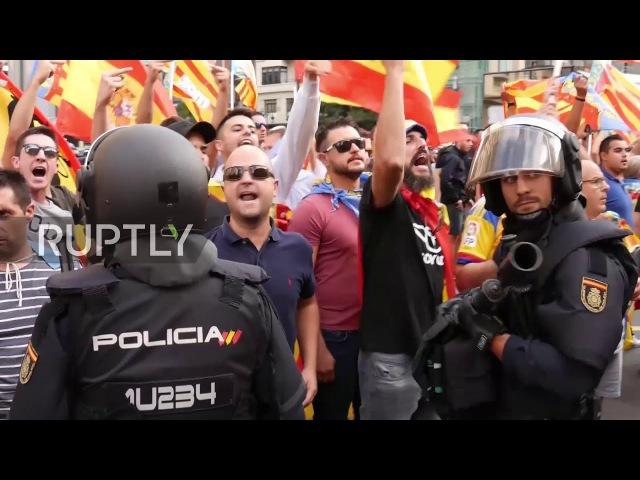 Spain: Violent clashes break out at pro-independence march in Valencia