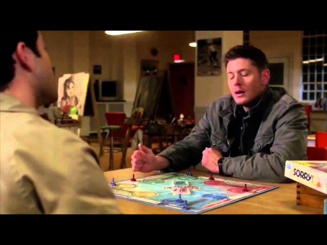7x21 Cas and Dean play Sorry