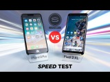 Google Pixel 2 XL vs iPhone 8 Plus SPEED Test