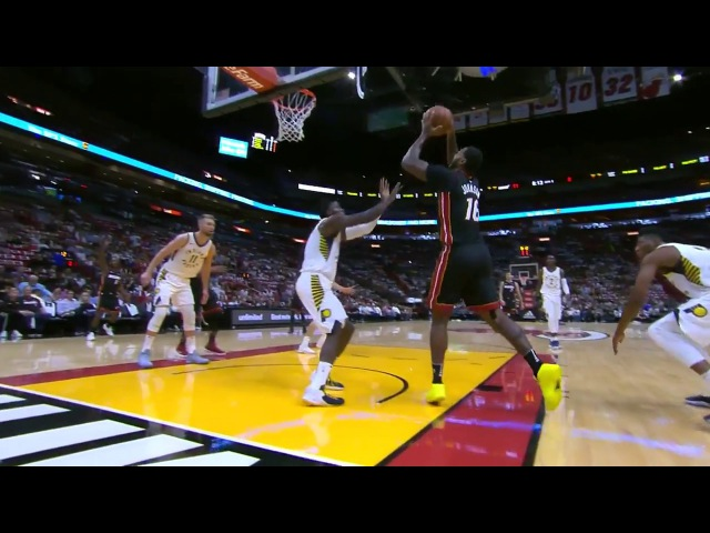 Heat's James Johnson Puts Pacers' Victor Oladipo on a Poster with Nasty Dunk