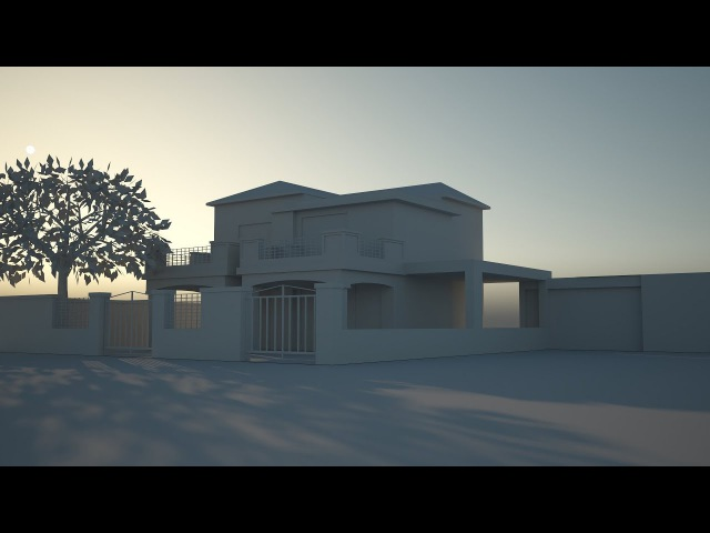 Tutorial No.78 VRAYforC4D 3.4 Free Lighting Course | Physical Sun Sky | (Part 5 of 8 )