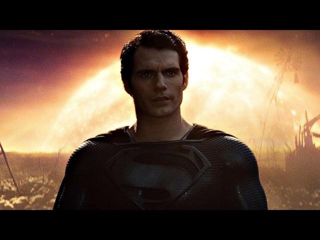 Супермен в черном костюме. Видение Кларка Кента. Человек из стали. 2013.