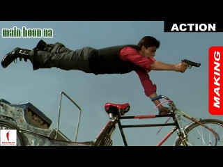 Main Hoon Na | Making of Action | Shah Rukh Khan, Sushmita Sen | A Film By Farah Khan