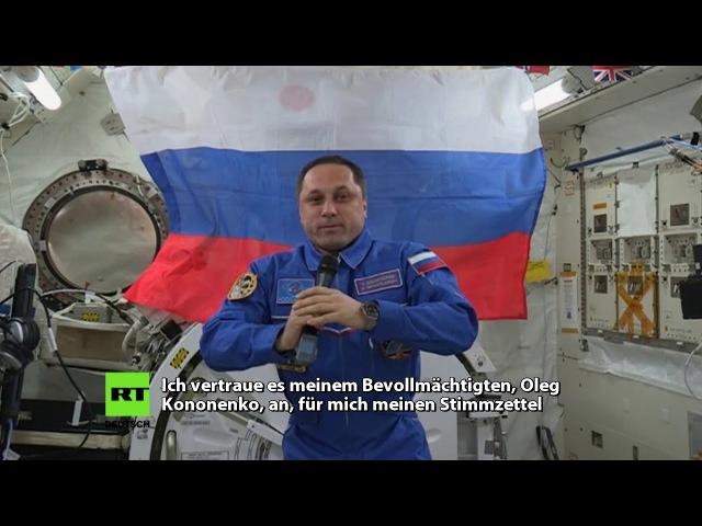 Jede Stimme zählt: Russischer Kosmonaut wählt Präsidenten im Weltall