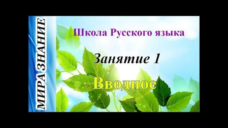 Школа Русского языка: Занятие 1 I Вводное