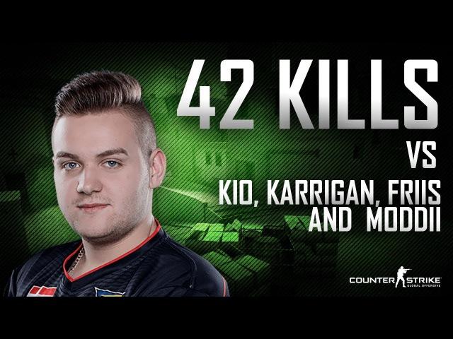 CS:GO | NiKo - 42 kills in FPL match (ft. dev1ce, kio, karrigan MODDII)