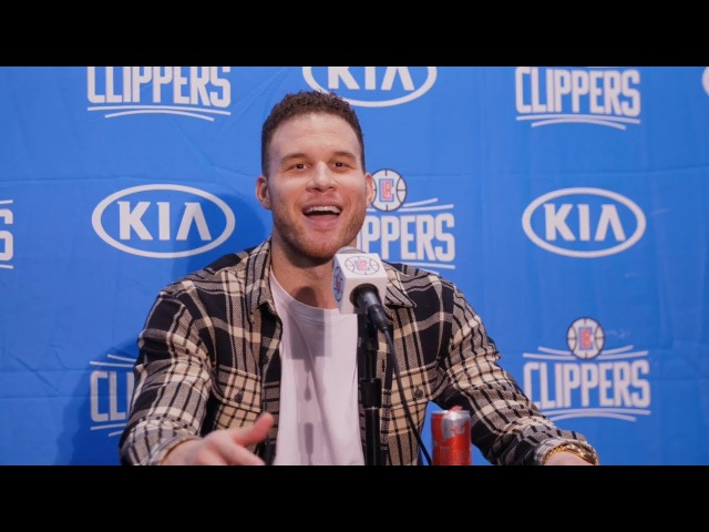 Blake Griffin Sarcastic During Postgame Interview Rockets vs Clippers 2017 18 NBA Season