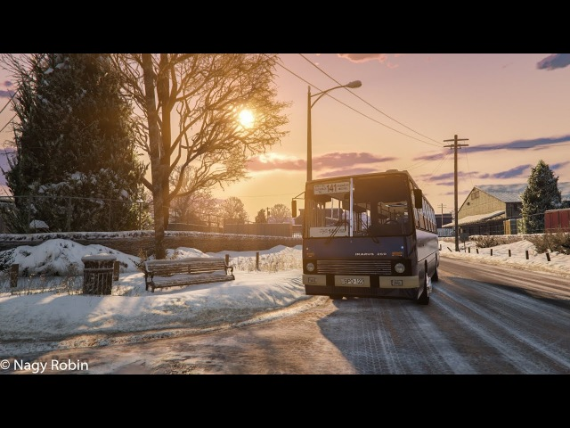 Gta V Mods | Ikarus 260 AWD Config | Winter Driving.