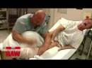 Mick Foley, Mr. Socko Stone Cold Steve Austin visit Mr. McMahon in the hospital 25 Years of Raw