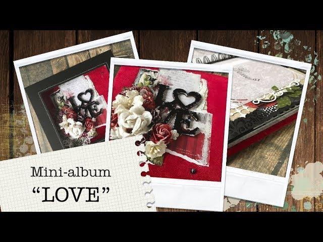 Красный бархатный мини-альбом LOVE