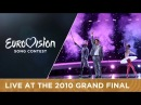 Daniel Diges - Algo Pequeñito (Spain) Live with interruption 2010 Eurovision Song Contest