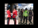 Смена караула. Смена караула у Букингемского дворца. Лондон. Change of guards. Buckingham palace