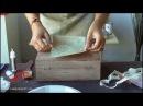 Tutorial Tehnica SHABBY SCRAP Decorarea unei cutii